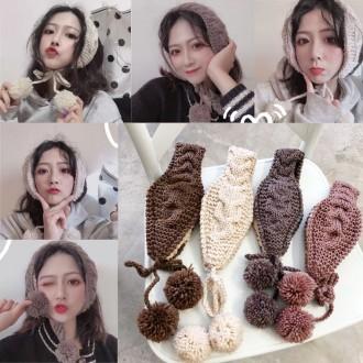 꽈배기 꼬임 귀도리/겨울/니트