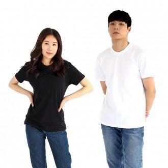 교복면티 남자 여자 학생 30수 무지 반팔 검정 흰 네이비 색 티셔츠