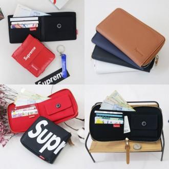 [아가페] 반지갑/장지갑/지갑/가죽/방수천/학생지갑