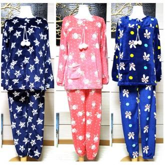 포근한 밍크 극세사 수면 상하세트/수면바지/잠옷