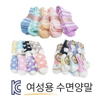 [제이플러스] KC 하트 파스텔 여성수면양말 최고급굿