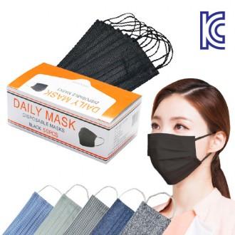 최종수량 일회용 3중필터 패션마스크 KC인증 먼지차단 위생방한 모던 마스크