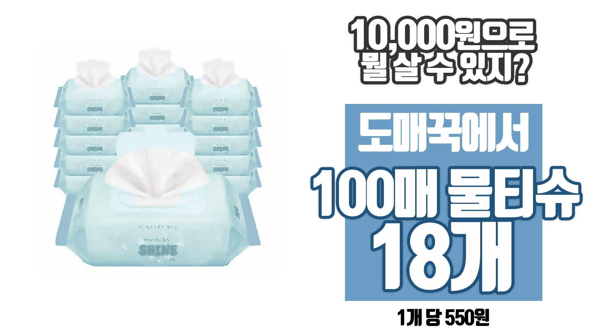 [샤인공식몰]더건강한물티슈 샤인물티슈[100매캡형]