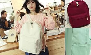 핑크돼지 코튼봉쥬르백팩/학생백팩/백팩/가방/여자백