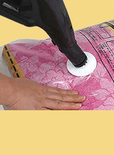 국산 의류용 압축팩