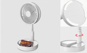 UBAcc 코드프리 폴더블팬 무선 접이식 휴대용 선풍기