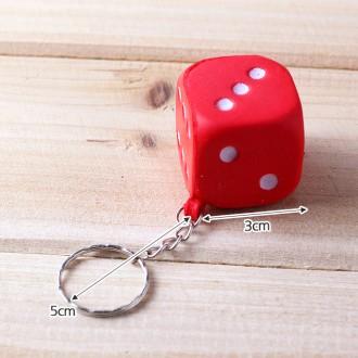 주사위 열쇠고리(3cm×3cm×3cm)/완구류