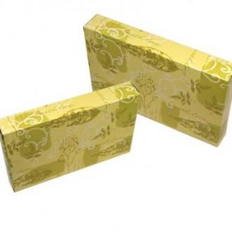 나뭇잎무늬 타올케이스/19.5x12.6x3/선물포장박스/타