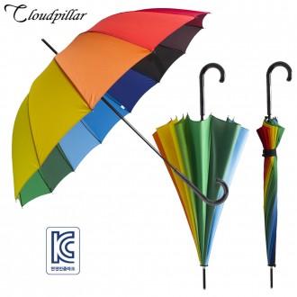 클라우드필라 14K 무지개우산곡자 아동우산 색동우산