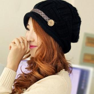 승마 니트 벙거지모자 겨울 여성 뜨게 털 모자