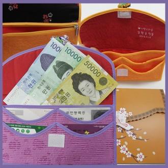 색동카드통장지갑 통장지갑 카드지갑 여권 전통누비지
