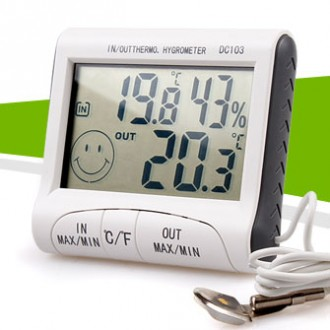 디지털 이모티콘 실내외 온습도계 (실내외동시측정)