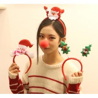 [대량구매특가]크리스마스 헤어밴드(고급) 산타머리띠