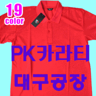 PK카라티 반팔(30수) 5800원입니다. (대구공장)