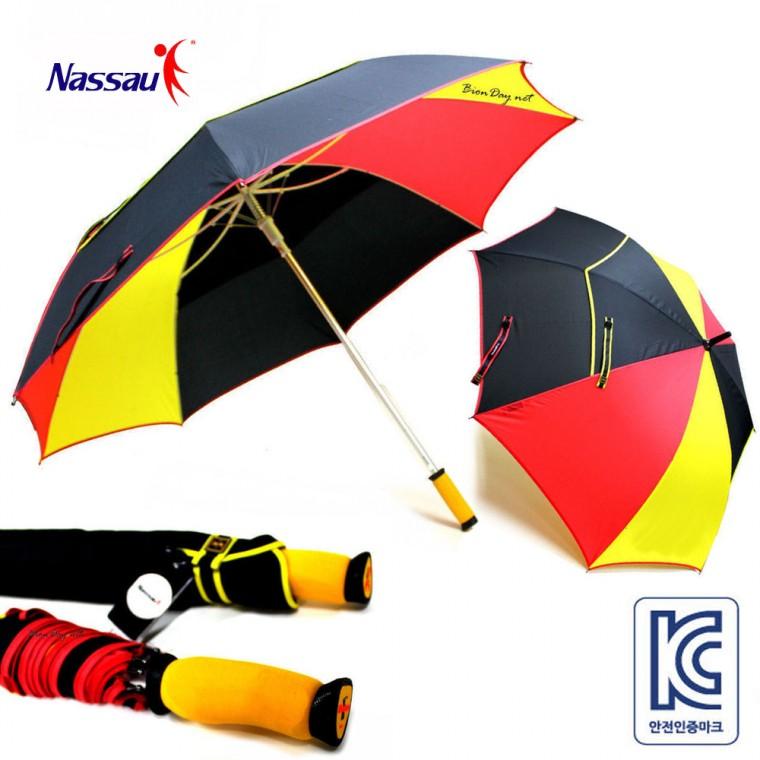 낫소스포츠 75 알루미늄 색동방풍장우산 의전용우산 창립기념품 총회기념품