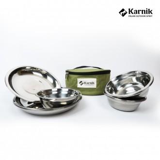 [카르닉]식기세트21P 스테인레스 캠핑 캠핑용품 낚시 식기 코펠