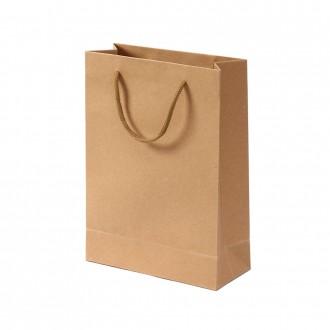 무지 세로형 쇼핑백(브라운) (19x26cm)