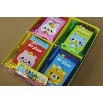 목걸이수첩 ( 1000원- 550원)모양자+볼펜+수첩이 한세