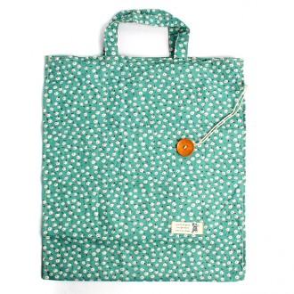 접이식 다용도 꽃무늬 보조가방(39cm×35cm)