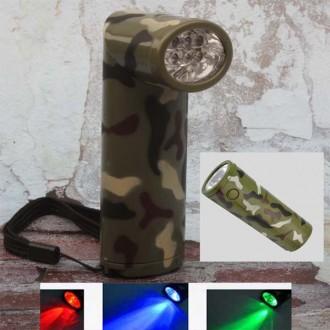 LED 6구 군용 후레쉬 랜턴 손전등 전구색상 4종