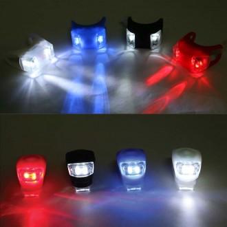 실리콘2구후미등 2P한세트 자전거용품 안전등 LED 전