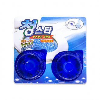 청스타/변기/청스타(40gX2개입)/변기청소/변기세정제