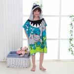 극세사 재질의 캐릭터 아동용 비치가운 비치타올 수영