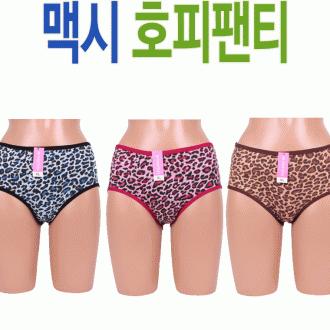 [부광유통]고급 맥시 호피 팬티 여성용/부인용 요일팬티 최저가판매