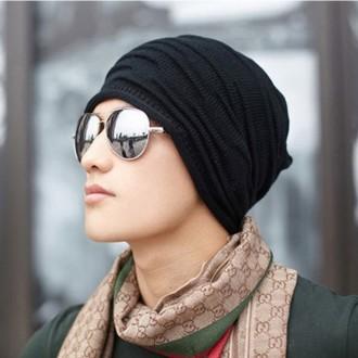 주름니트롱비니모자 니트 여성 남성 벙거지 뜨게 모자