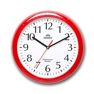 오리엔트 방수 벽시계 레드 OT651WPR -PP/방습시계/욕