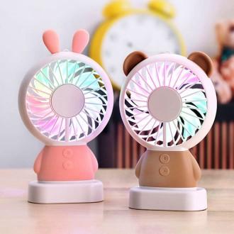정품 LED 오로라선풍기 USB선풍기 충전식선풍기 미니