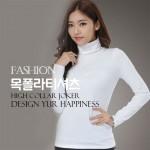 아이니몰 여성 목폴라 티셔츠 안감기모 이너웨어