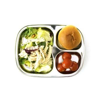 3구 간식식판 스텐유아식판 다이어트식판 아기식판