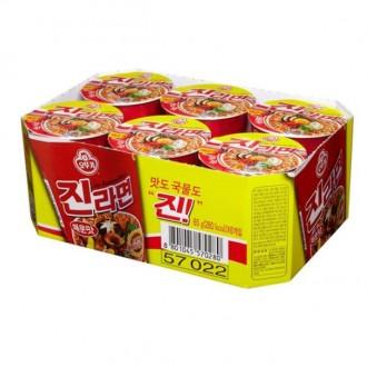 [케공] 오뚜기 진라면 컵라면 매운맛 65g 6EA 1박스