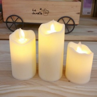 LED촛불 전자양초 장식조명3P세트 LED초 사랑고백 전