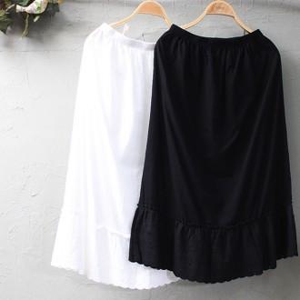 면레이스허리속치마[EM027]블랙입고/레이어드해서 입기 좋아요