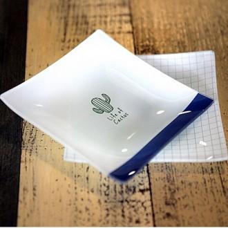 선인장 강화유리접시 2p /돌답례품 돌잔치 개업선물