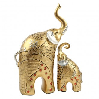 황금코끼리 2p세트/장식품/답례품/집/도자기