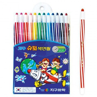 색연필.3500 슈퍼 색연필.12색 색연필.지구 색연필