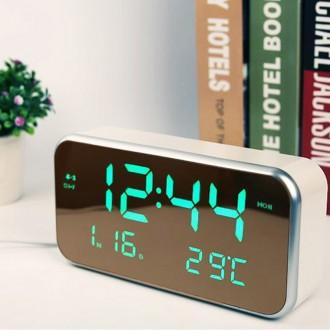 [루키] 정품 초대형 LED 직사각 미러시계 4칼라