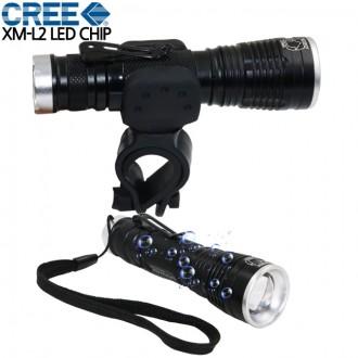 충전식 LED 자전거라이트 자전거 전조등 후레쉬 L2
