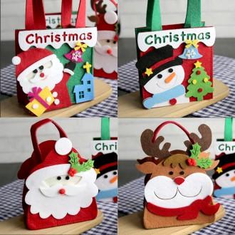 크리스마스 귀여운가방/5가지 종류/입체펠트 짱귀염