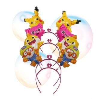 풍선머리띠 뽀로로풍선머리띠 핑크퐁머리띠 어린이집