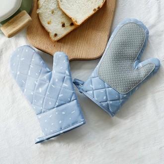 무핀 주방 오븐 장갑 2p세트(블루)/주방용품