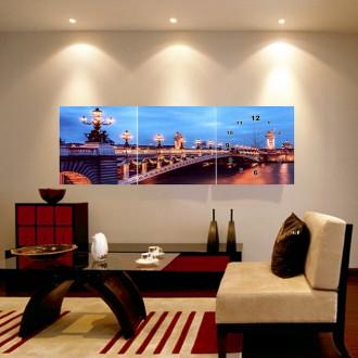 파리야경 병풍 벽시계(120cm×40cm)