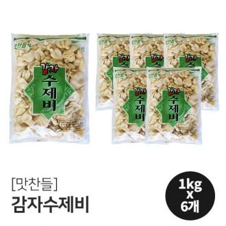 맛찬들 감자수제비 1Box(1kgX6개)