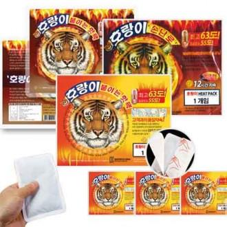 호랑이핫팩 100매 붙이는 핫팩 손난로 군용 방한용품