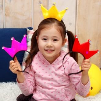 큐빅왕관불빛머리띠(12개입)/왕관머리띠/콘서트/응원