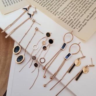 무조건 4900원 퀄리티최상 세련된 자개 은침 귀걸이