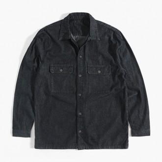 [런스타일]오버핏 데님 셔츠 자켓/남성셔츠/남자자켓